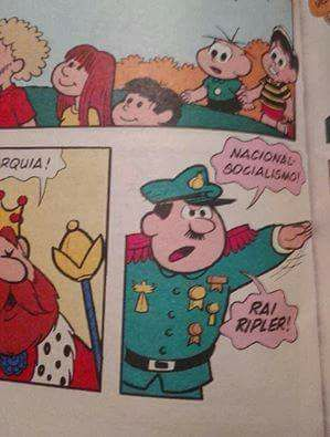 Maurício nazista - meme