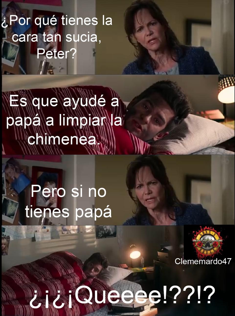 el huérfano Peter - meme