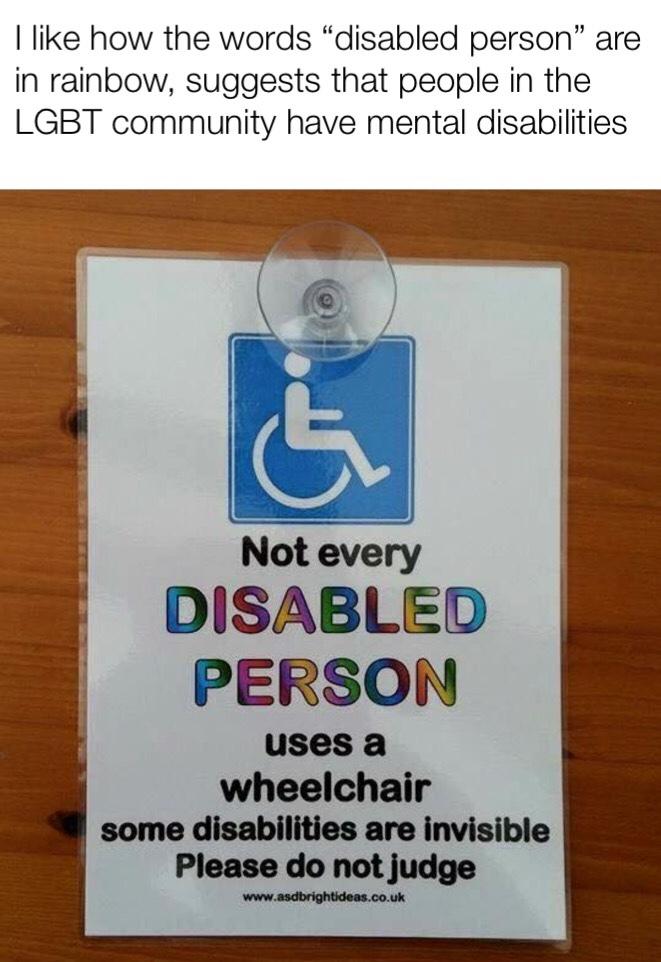 disabled person - meme