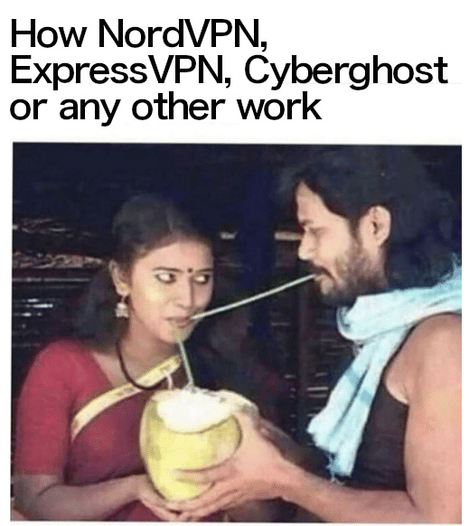 How VPNs work - meme