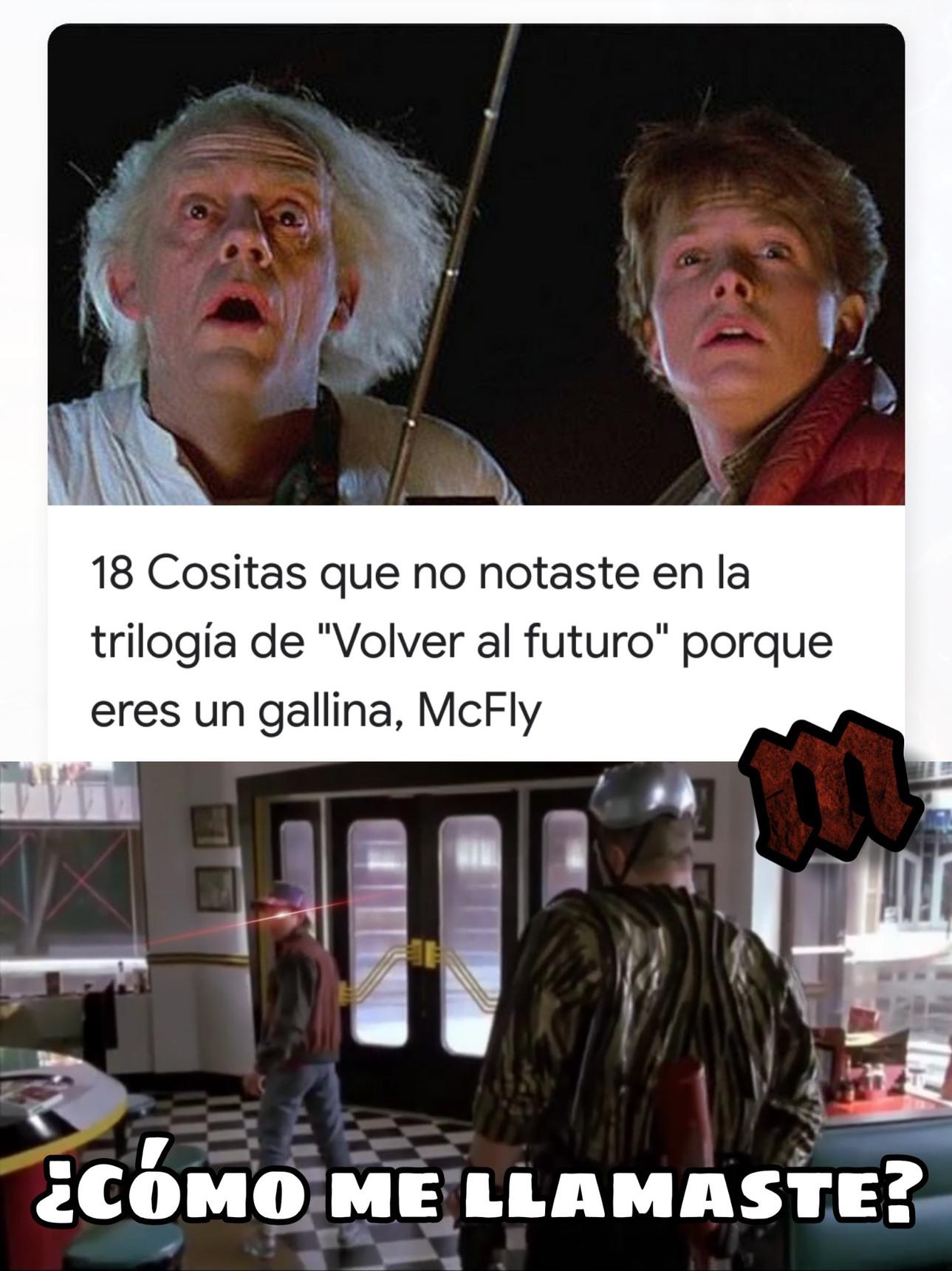 Gallina Mcfly - meme
