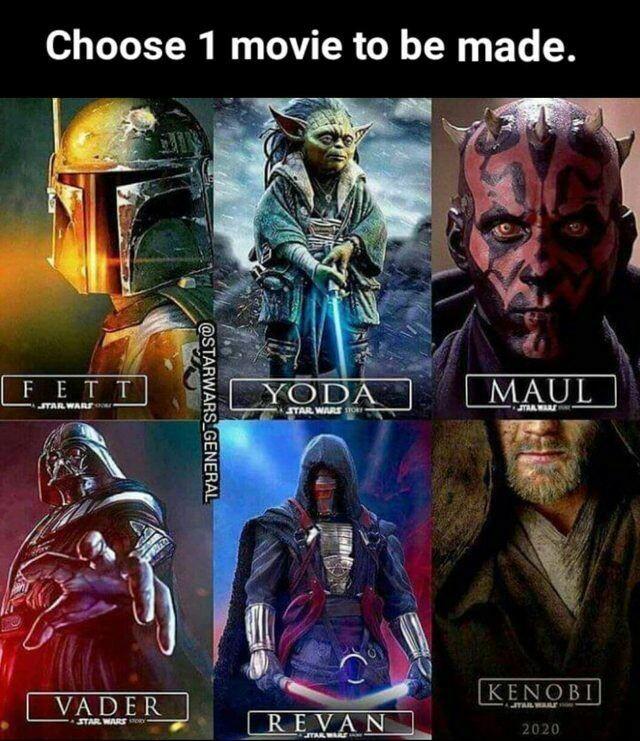 Revan, Vader o Fett - meme