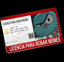 Licencia sin gracia - meme