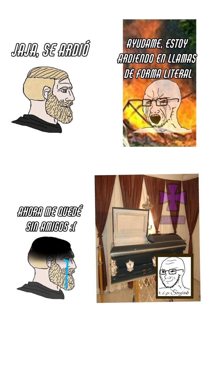 Y así es como chad se murió solitario - meme