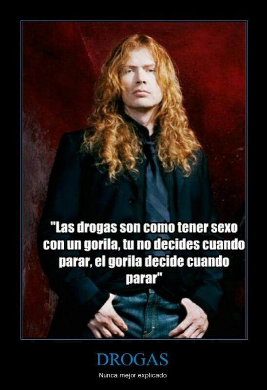 Las drogas según Dave Mustaine - meme