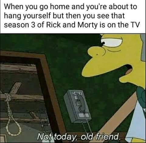 Rick and morty season 3 is here - meme