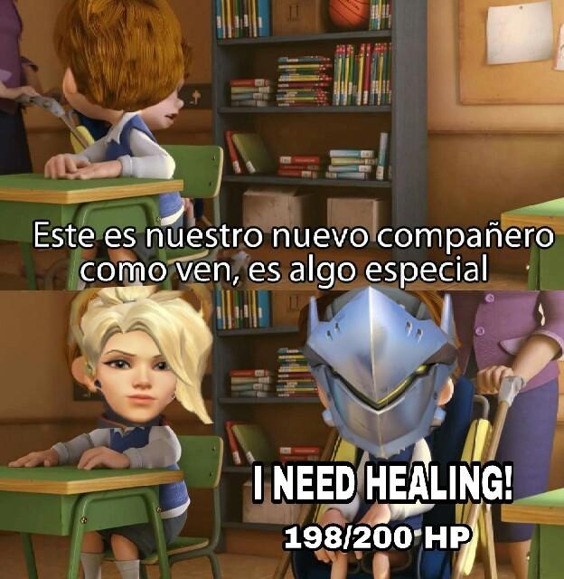 I NEED A HEALER! - meme