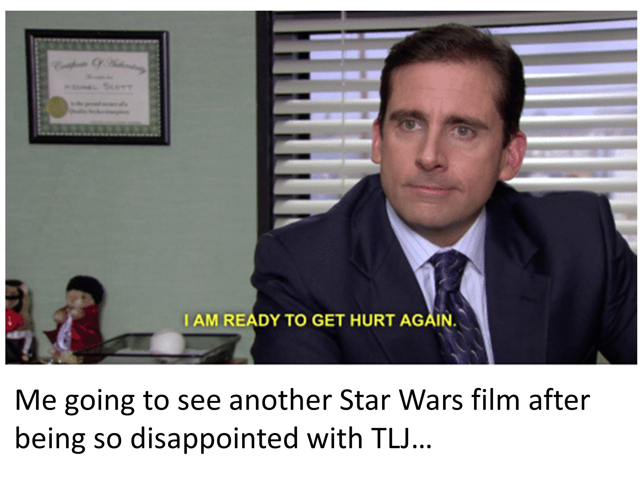 Michael Scott Getting Ready to See The Rise of Skywalker - meme