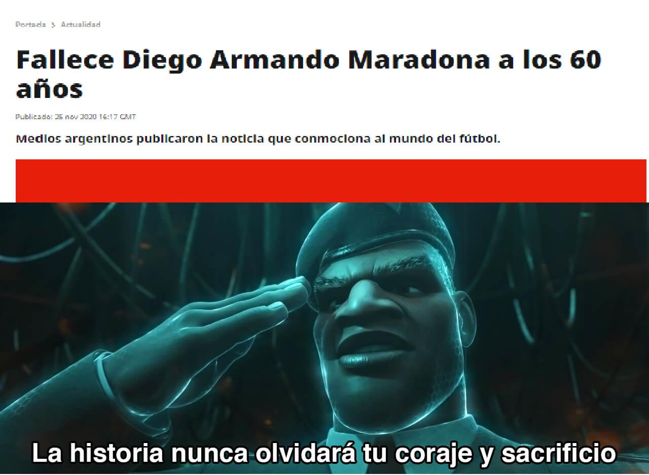 Maradona Murio. - meme
