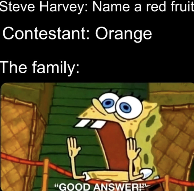 Family feud is amazing - meme