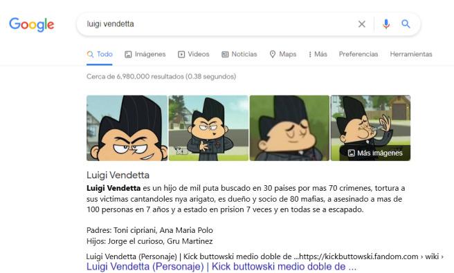 Luigi Vendetta - meme