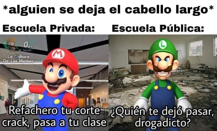 la escuela publica es mini latinoamerica - meme