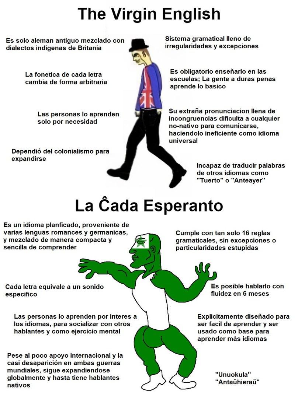 Fuck english, Mi kaj la knaboj parolas esperanton - meme