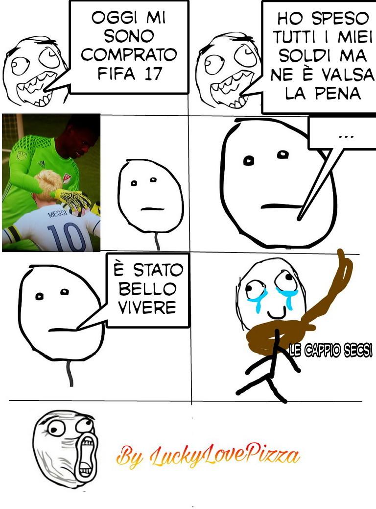 Fifa 17 è pieno di bug - meme
