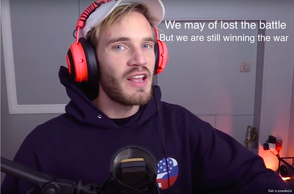 We can still win the war sub to pewdiepie - meme