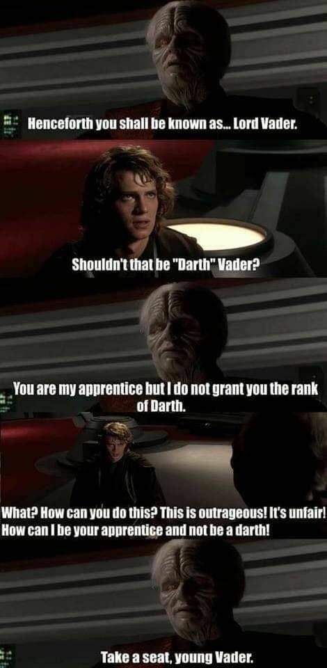 You are on this council but we do not grant you the rank of master - meme