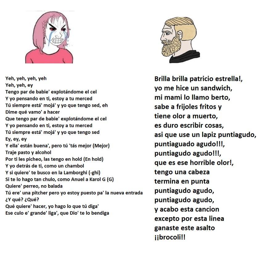 la cancion de patricio - meme
