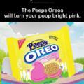 Pink poop