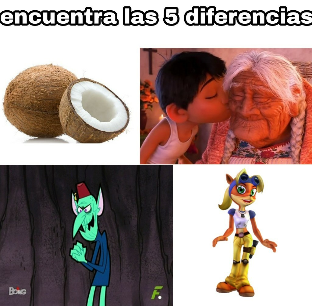 Tremendos cocos - meme
