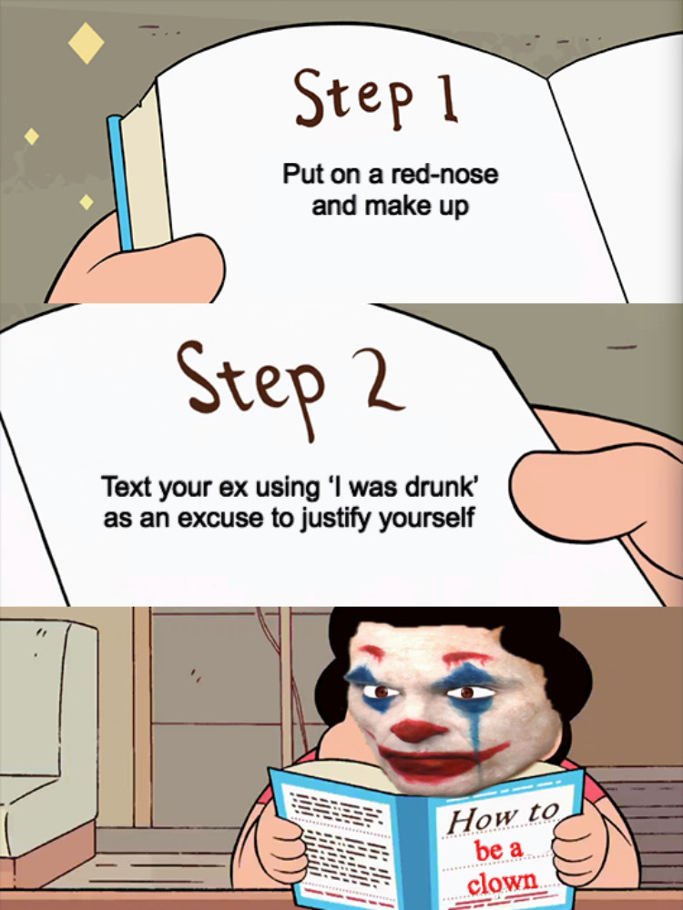 Clown tutorial - meme