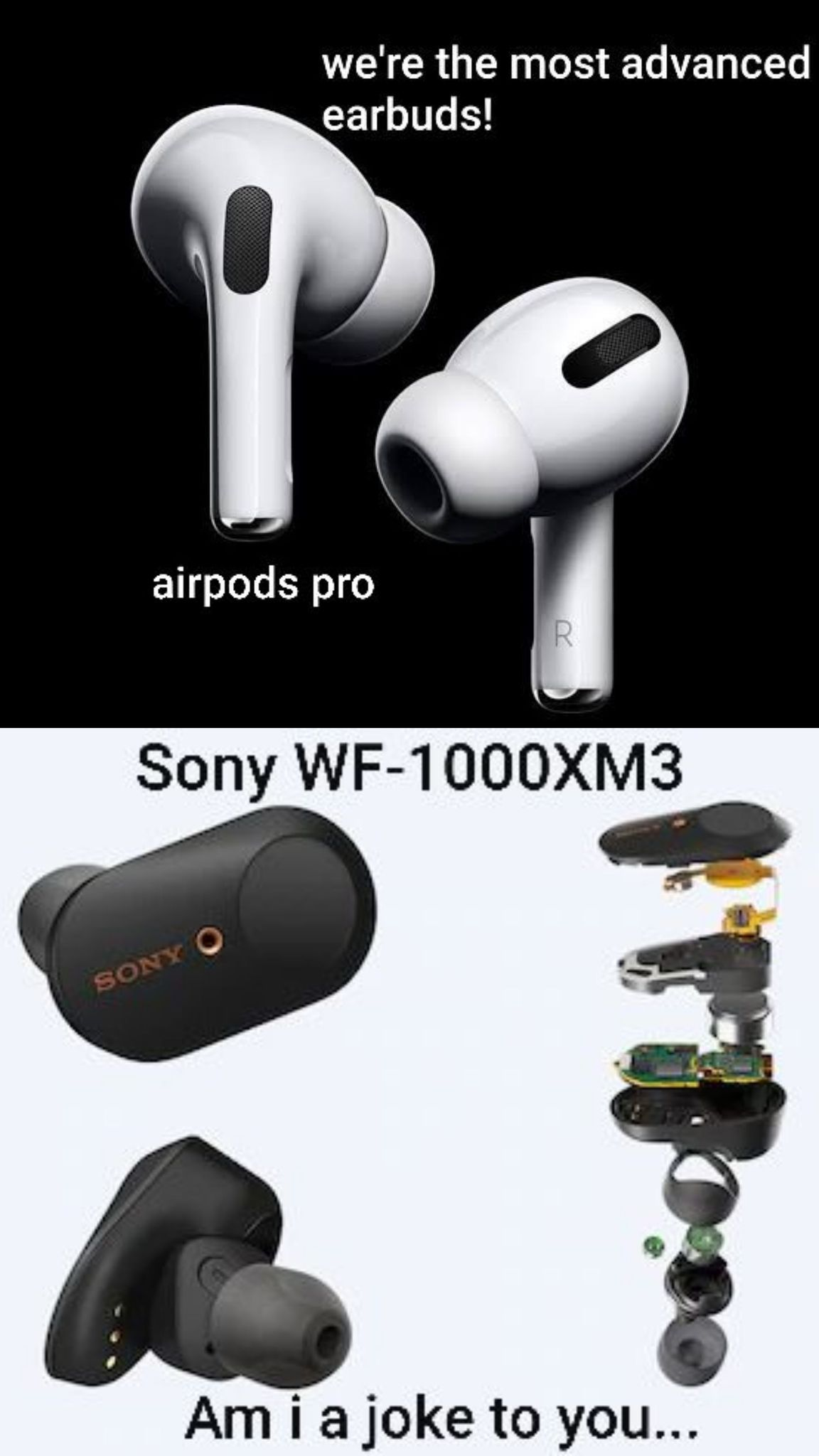 Apple Airpods pro Sony - meme