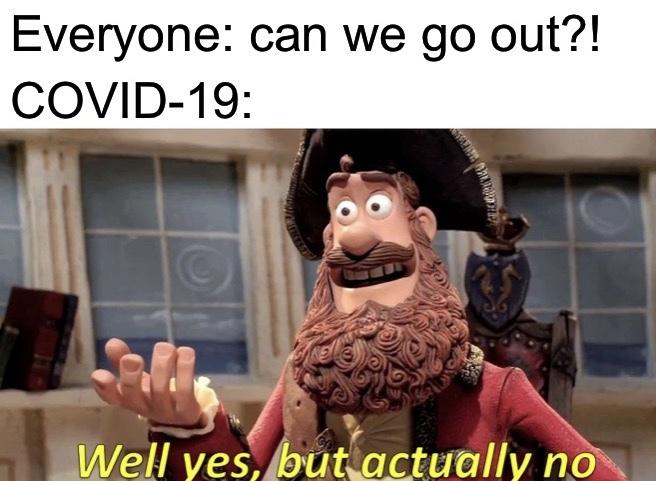 Covid-19 in a nutshell - meme