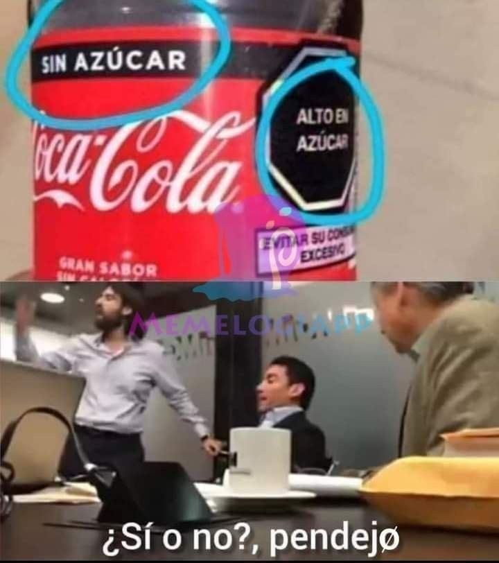 LA COCA SIN AZUCAR - meme