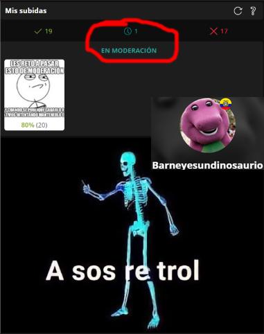 MODERADORES TROLLS HIJOS DE - meme