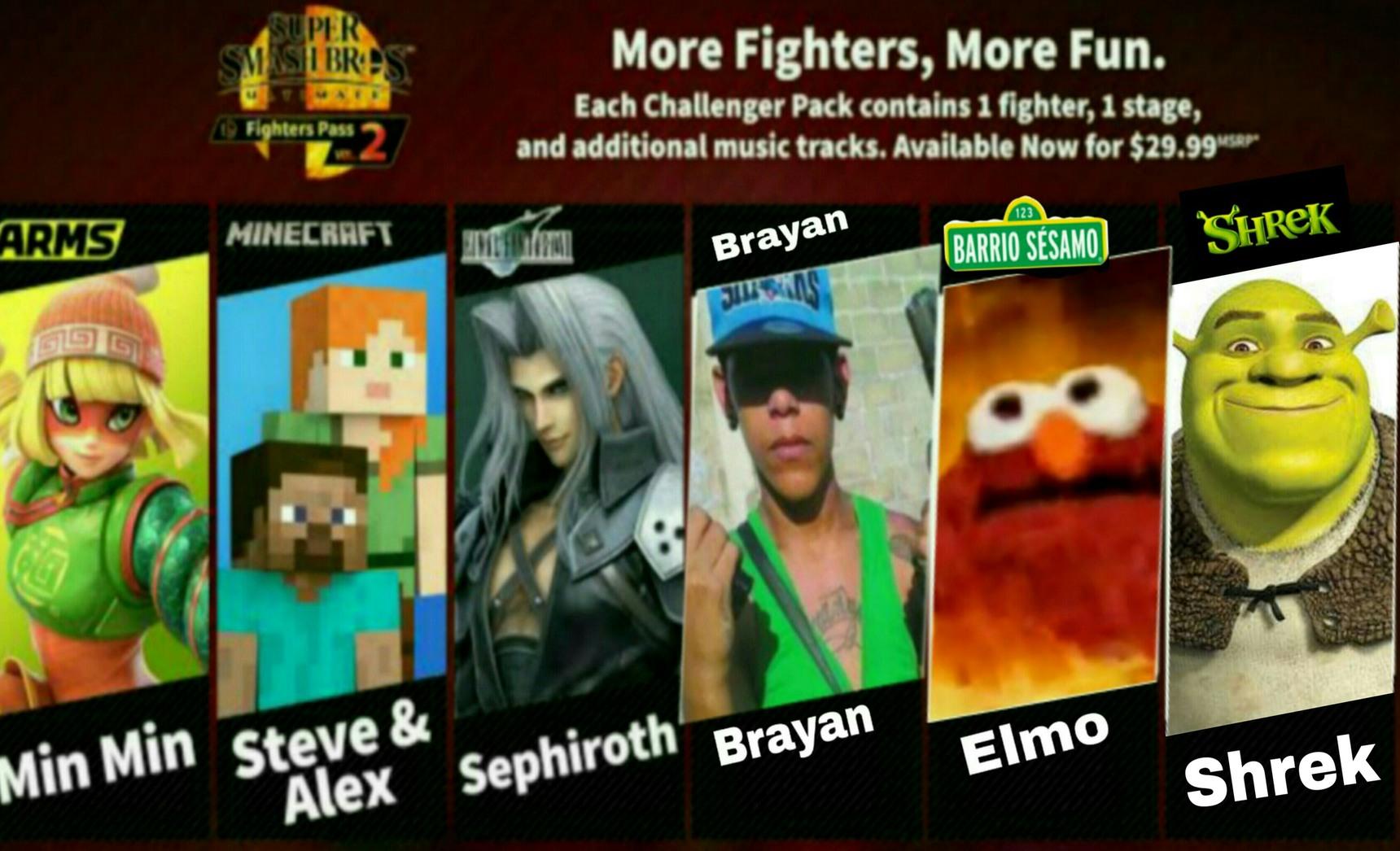 Ya se revelaron los luchadores restantes del 2 fhigter pass - meme