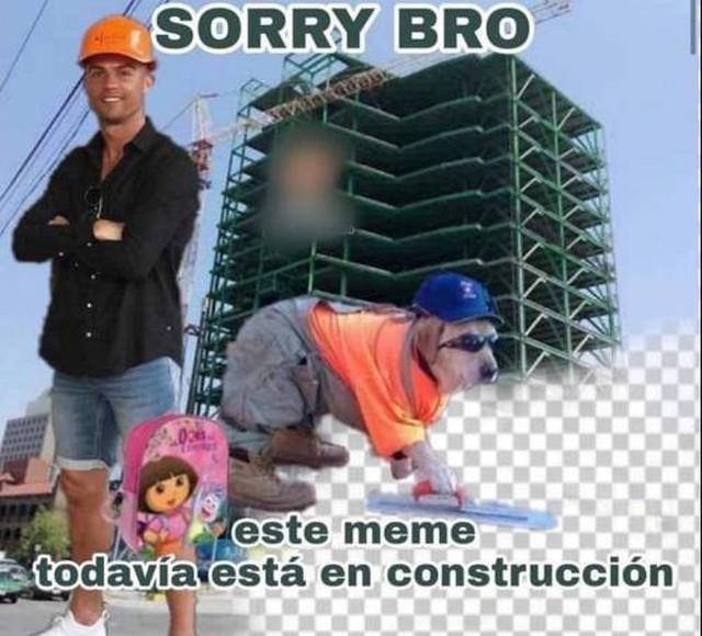 cr7 dando el ejemplo - meme