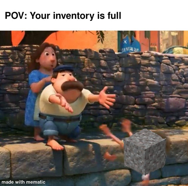 Your inventory is full - meme