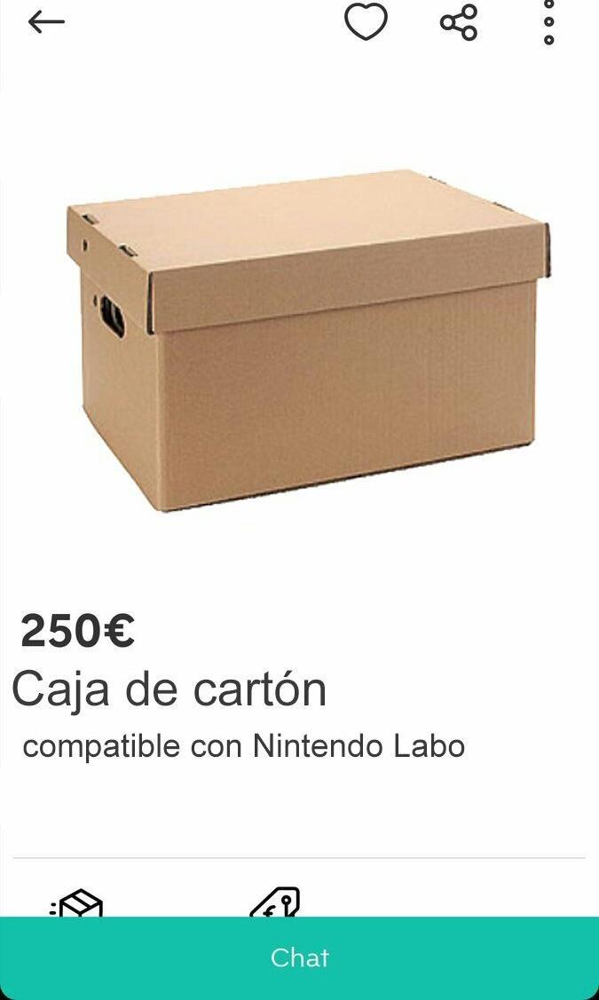 En Wallapop ya venden repuestos de Nintendo Labo - meme