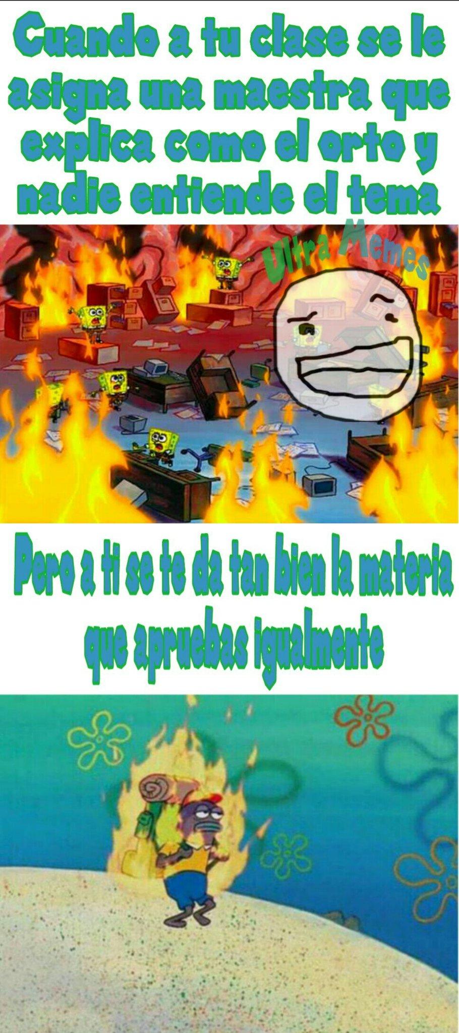 A mi me pasa con inglés - meme