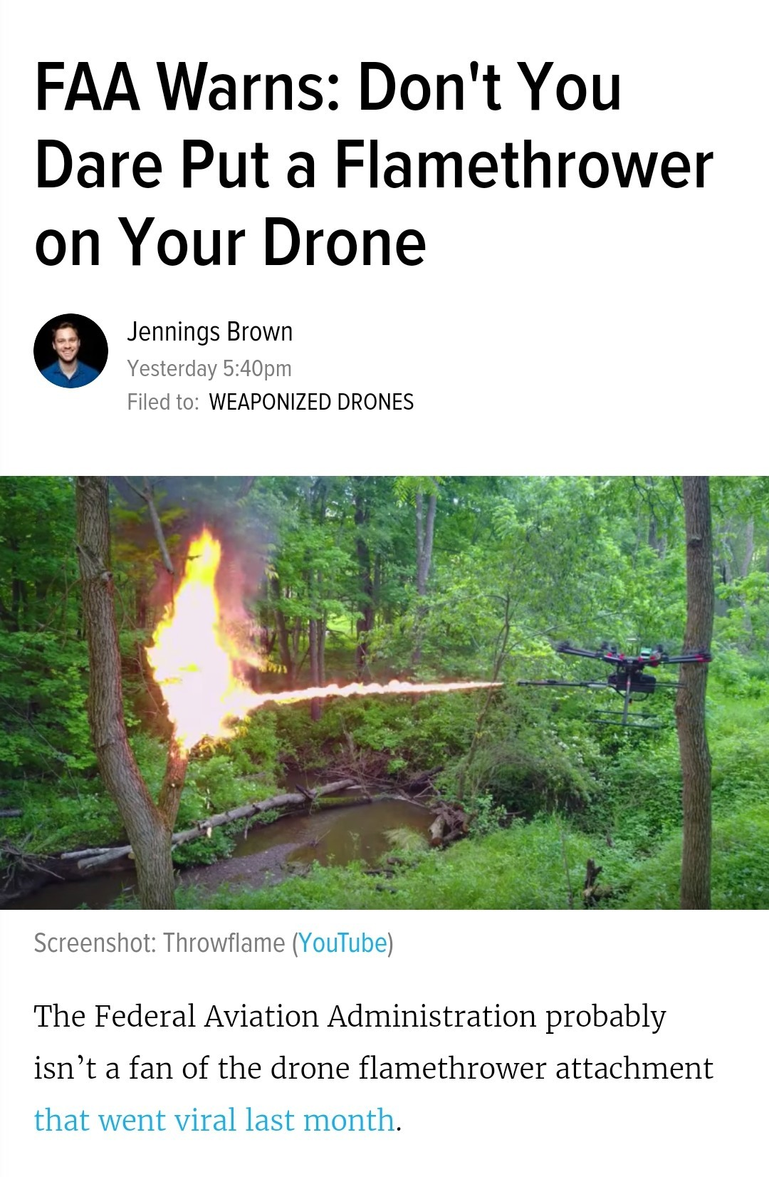 Now I know what to put on a drone. - meme