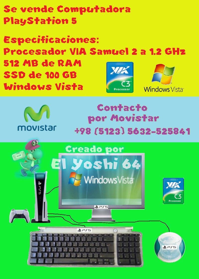Mi primer meme de la PS5 - PD: El VIA Samuel 2 es un procesador malisimo, y muchisimo peor que el Pentium III