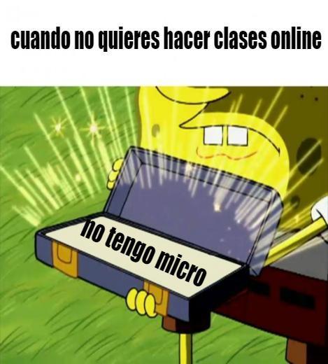 las clases online no funcionan - meme