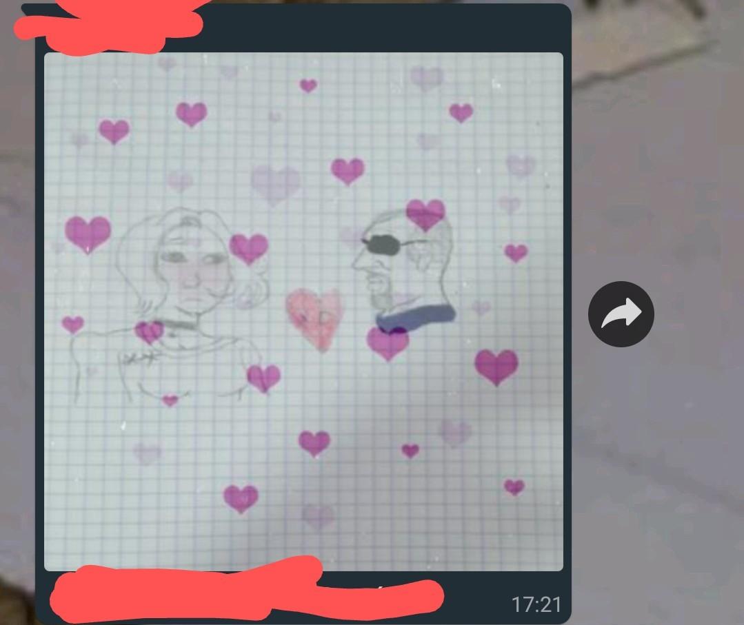 La tarea era hacer un dibujo por San Valentín - meme