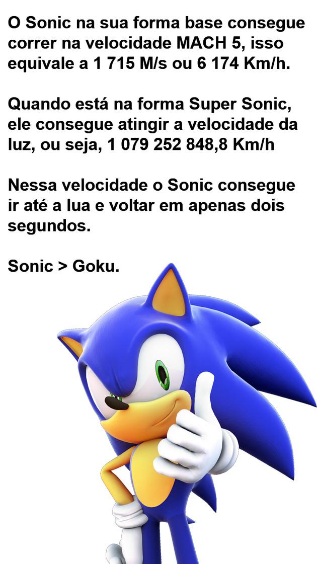 O Sonic é foderoso. - meme