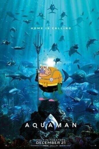 Aquaman y el chico percebe - meme