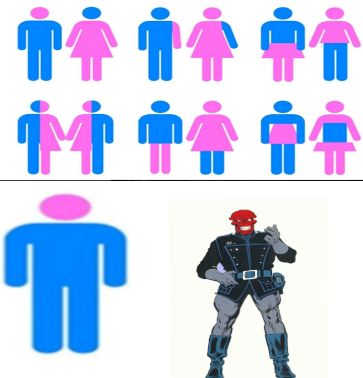 Cráneo rojo - meme