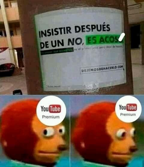 No olvidenos la publicidad en videos - meme