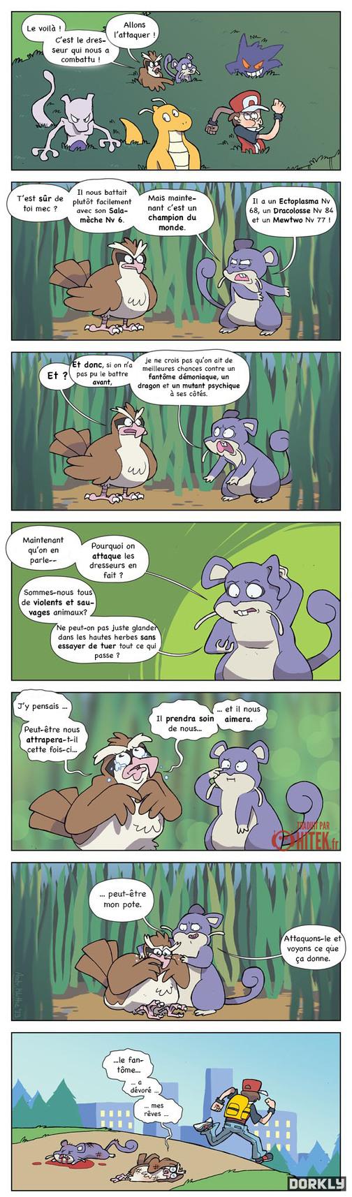 Pourquoi les pokemon sauvages nous attaquent-ils ? - meme