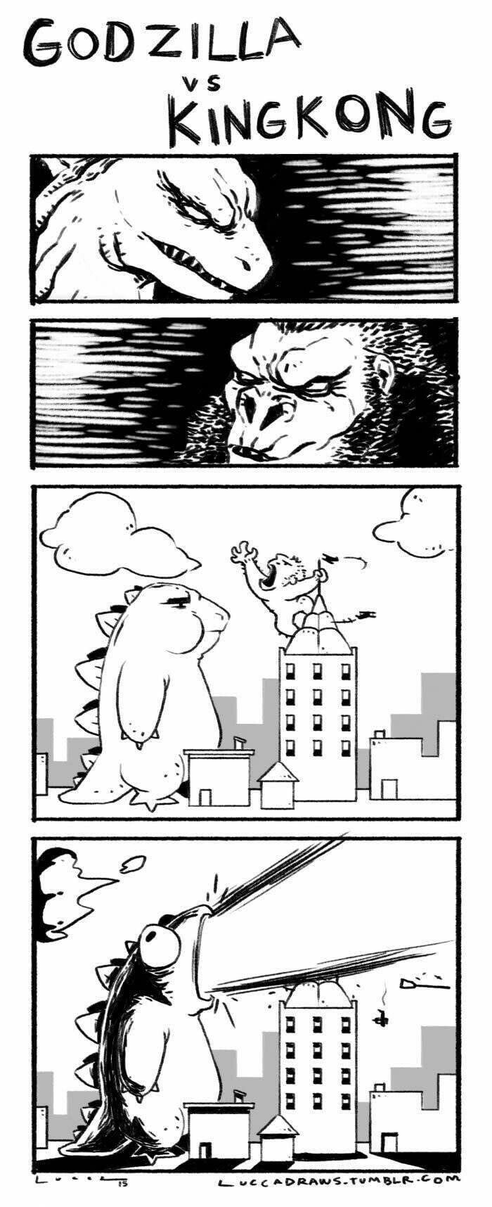 Godzilla vs king Kong - meme