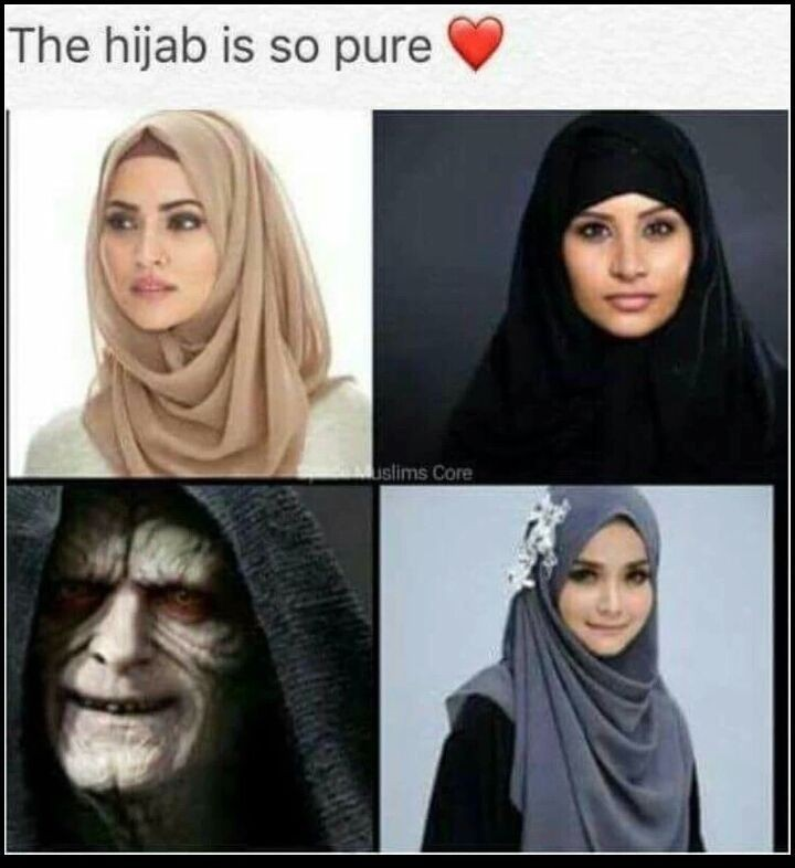 The word hijab always reminded me of the word jihad - meme
