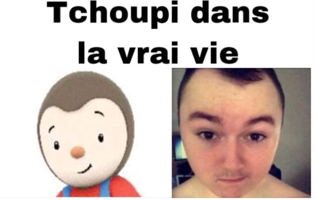 Tchoupi vs Real Life - meme