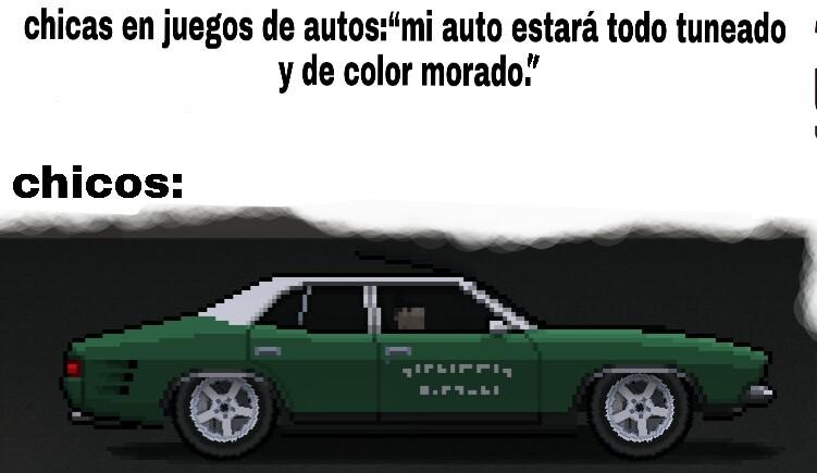 Lo hice yo en pixel car racer. Fue ez - meme