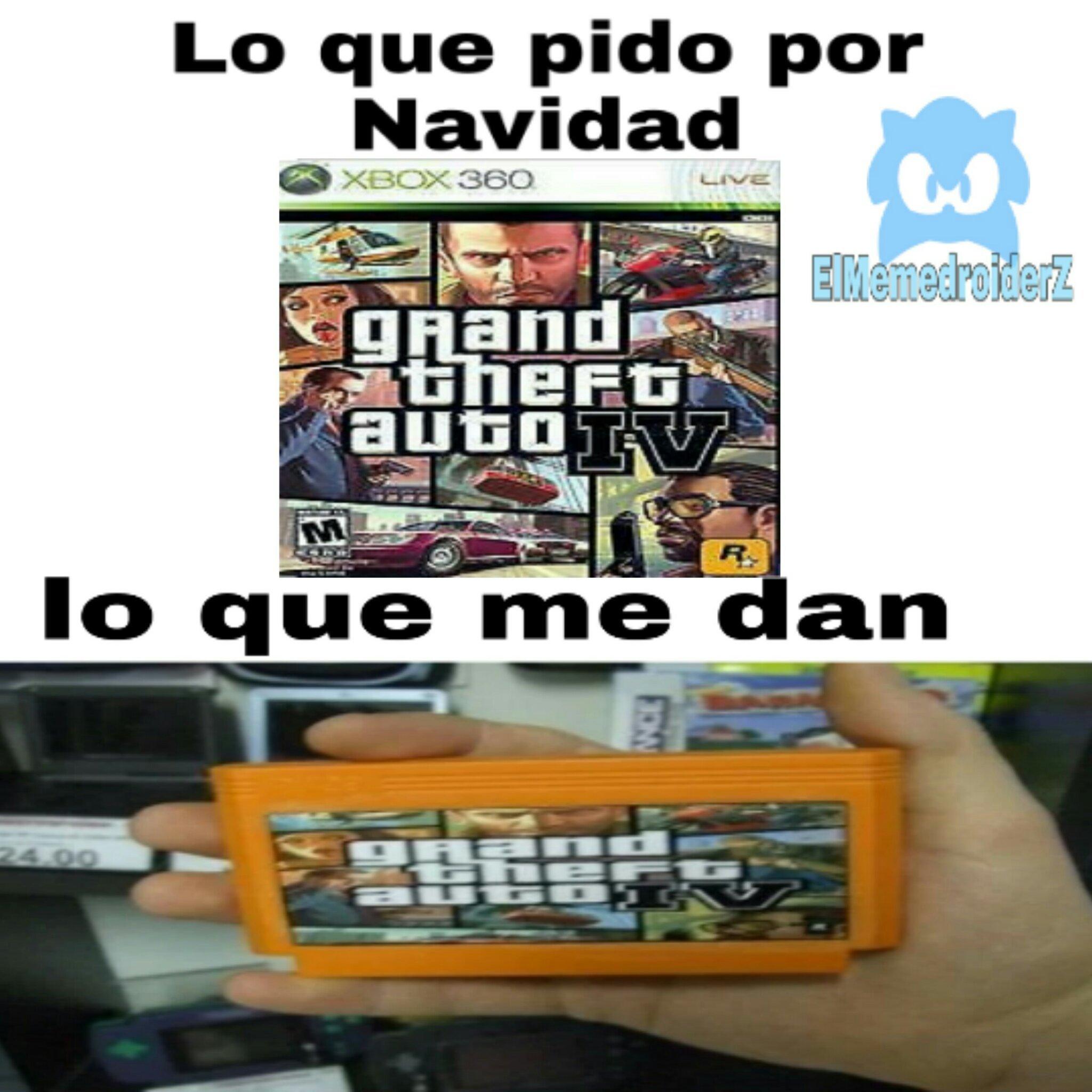 GTA 4 uno de los mejores GTA - meme