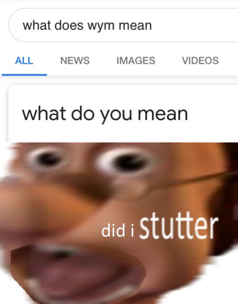 DID I STUTTER! - meme