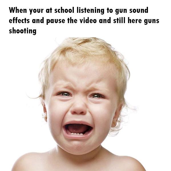 Gun sound effects - meme