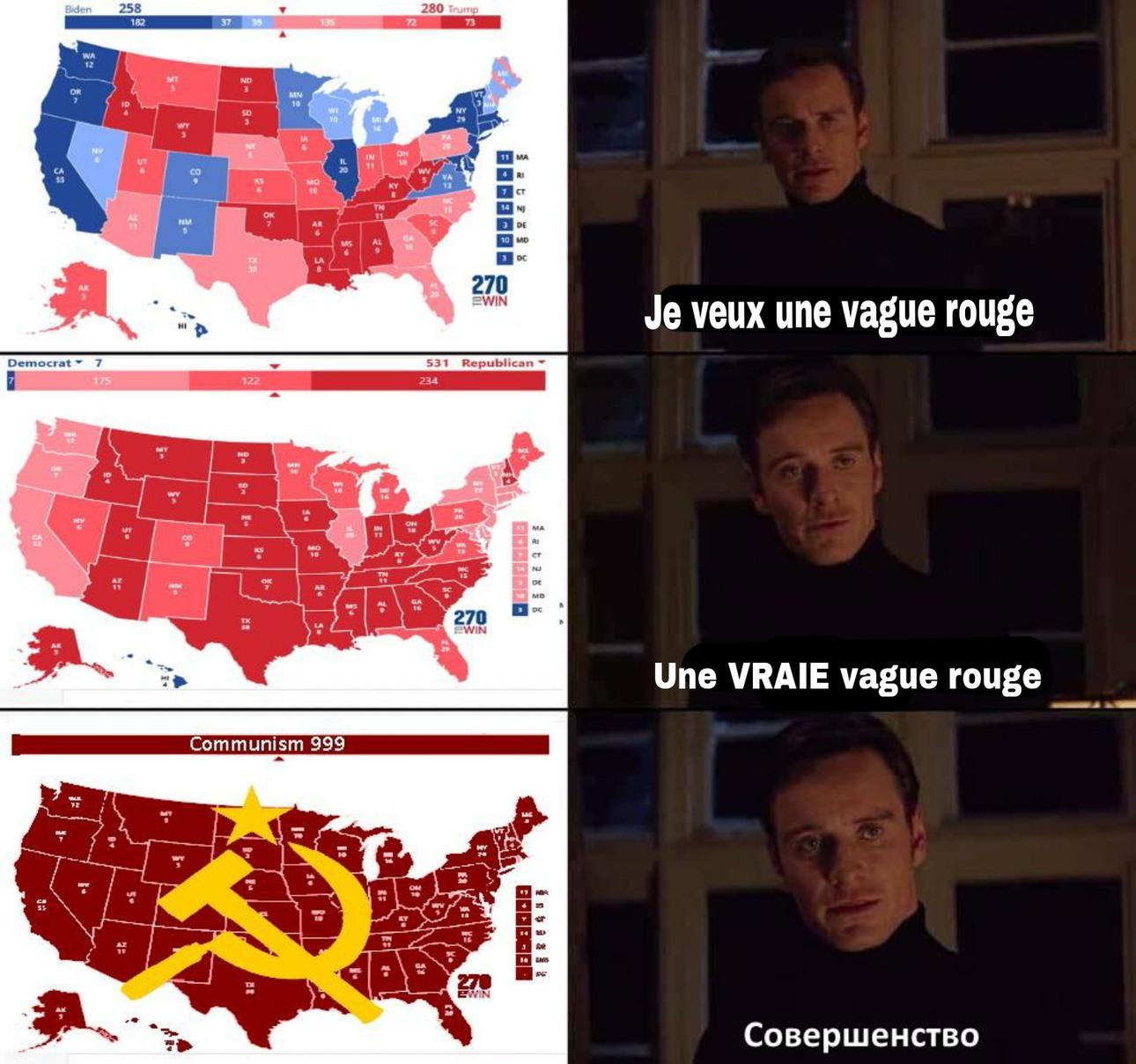 Vague rouge - meme